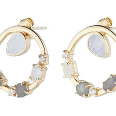 anna circular earrings gold