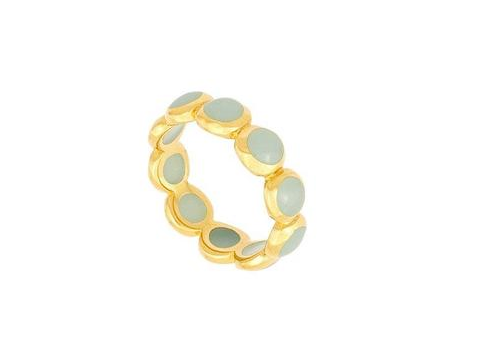 Green Chalcedony Stacking Ring