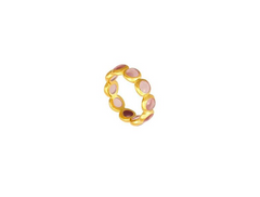 Pink Tourmaline Stacking Ring