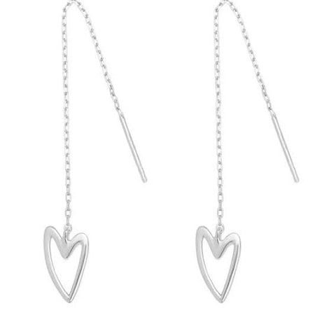 "break-up ""needle & thread"" earrings silver"