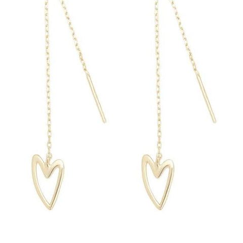 "break-up ""needle & thread"" earrings gold"