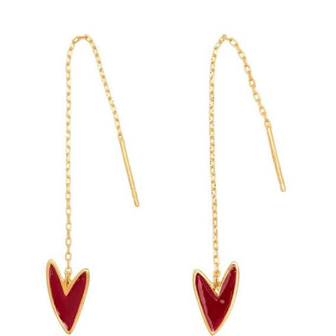 "make-up ""needle and thread"" earrings gold"