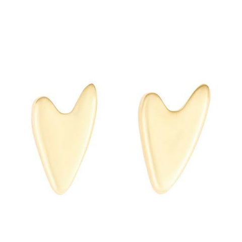 Heartbeat studs gold