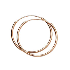 little boutique sleek rose gold hoops