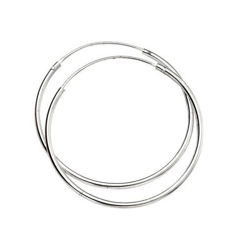 little boutique sleek silver hoops