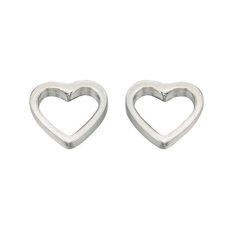 little boutique heart open studs