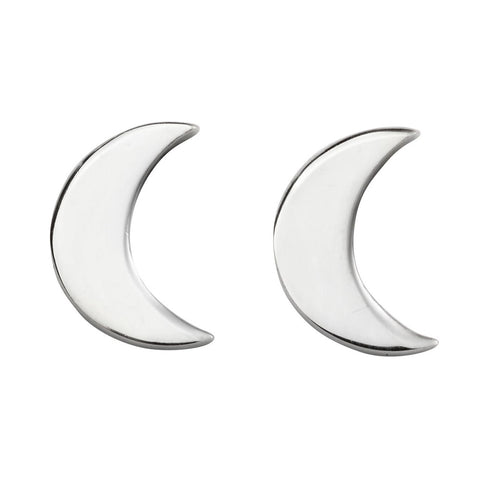 little boutique silver moon studs