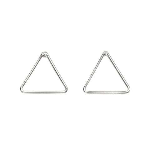 little boutique triangle studs