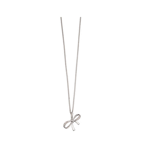 pretty diamond bow pendant