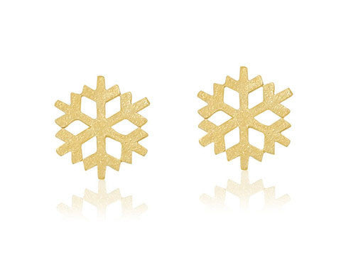 butterfly diamonds boutique cute little gold snowflake studs