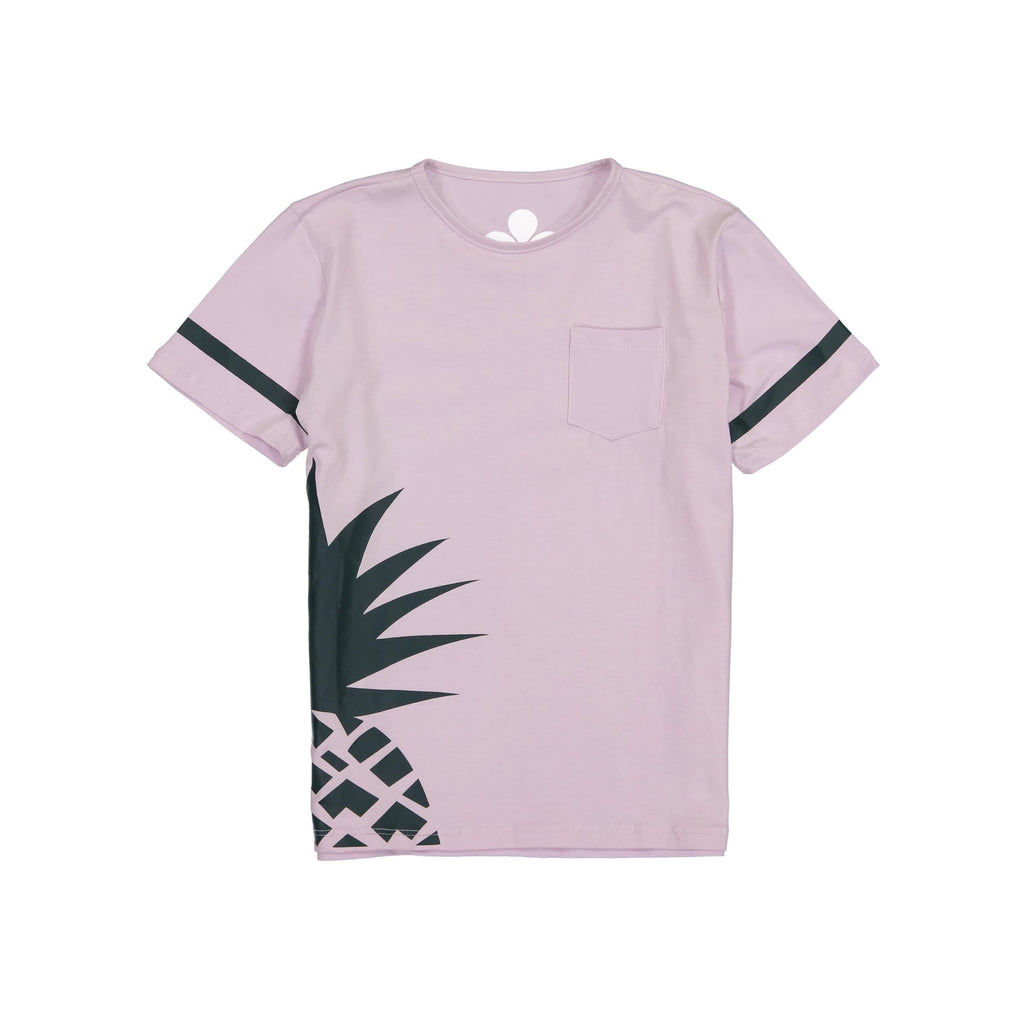 Pineapple Print Boys T-Shirt- Lavender