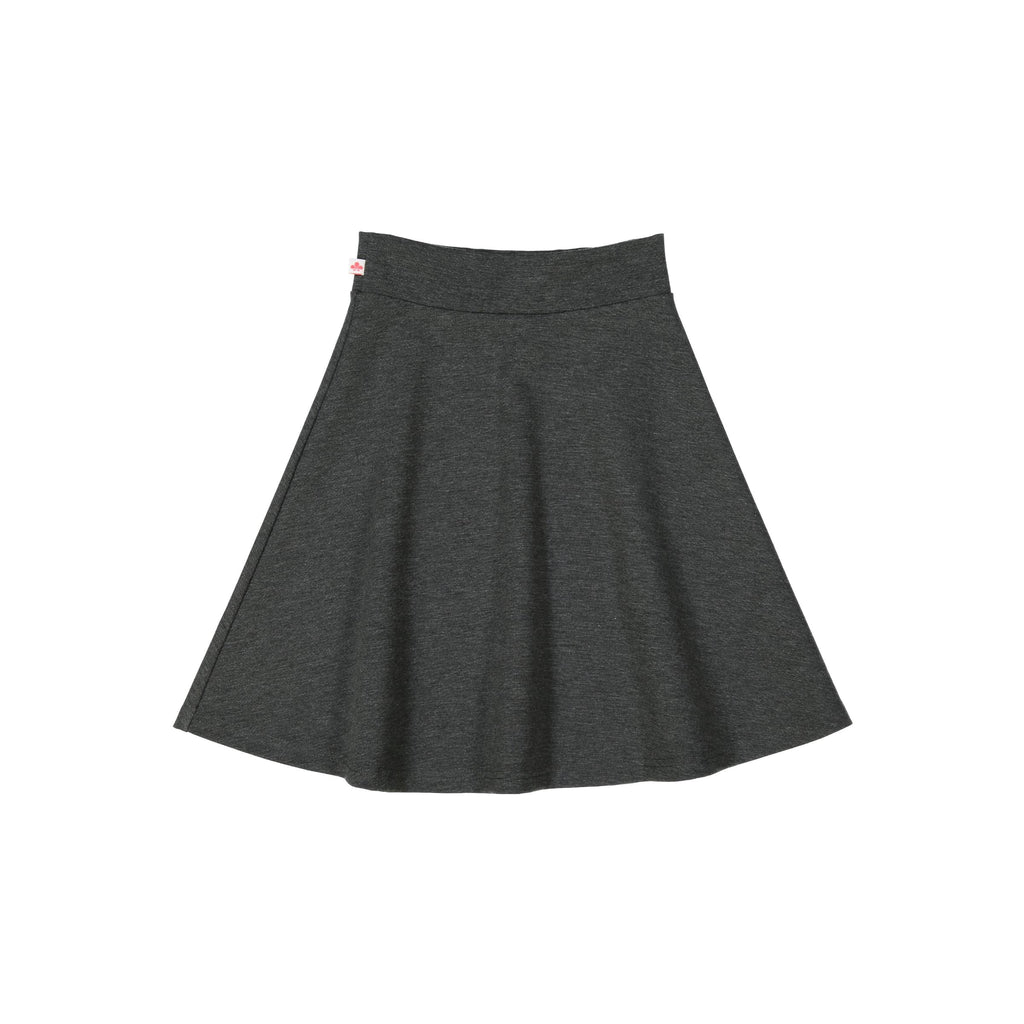 Women's Ponte Camp Skirt - Charcoal