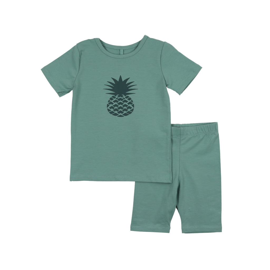 Pineapple Print Baby Set- Dusk