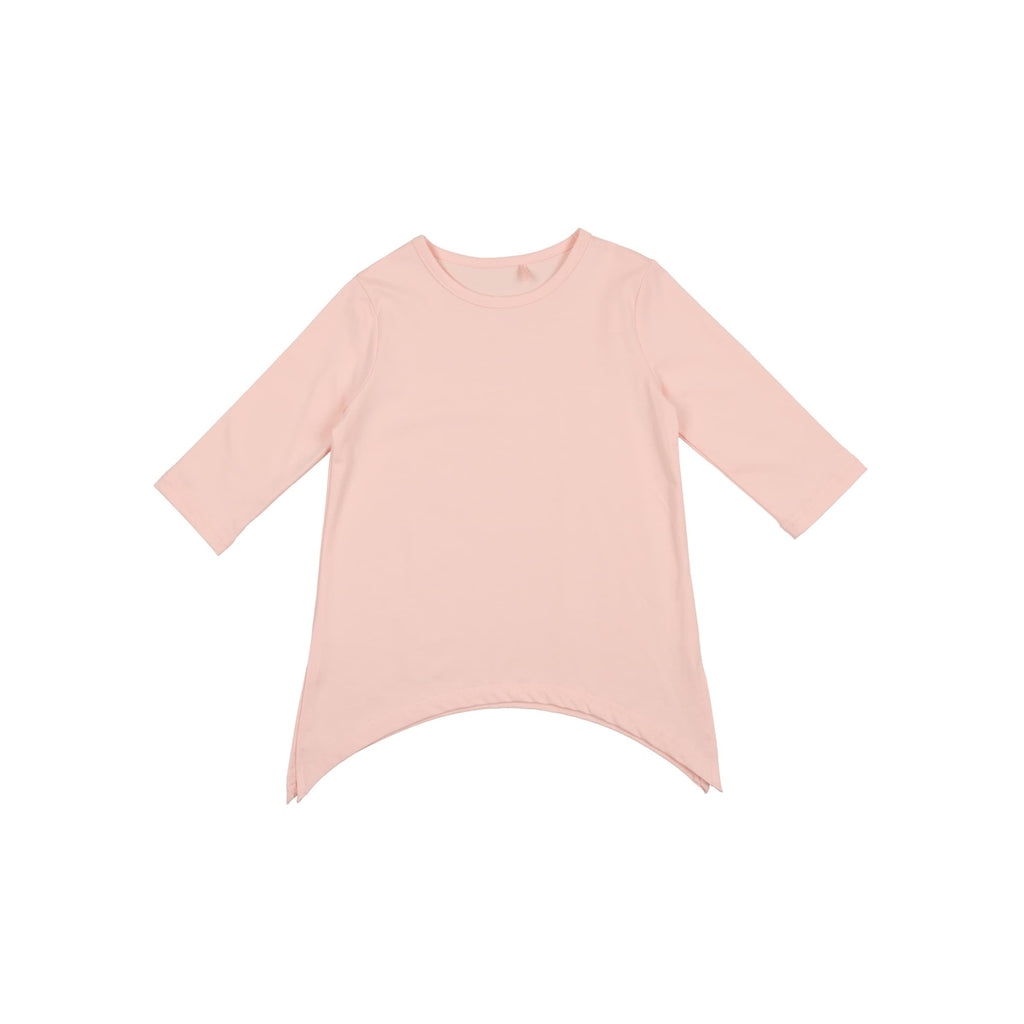 Asymmetric T-Shirt- Pink Ice