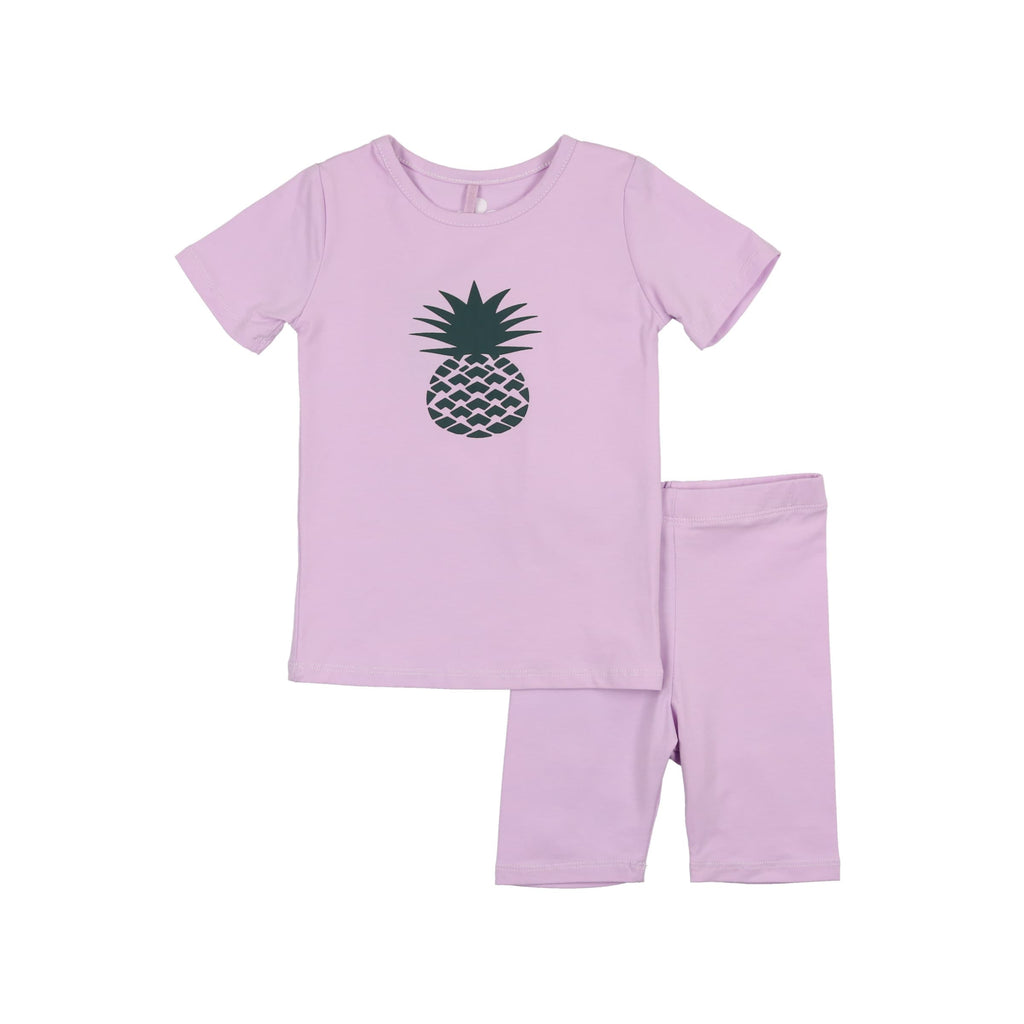 Pineapple Print Baby Set- Lavender