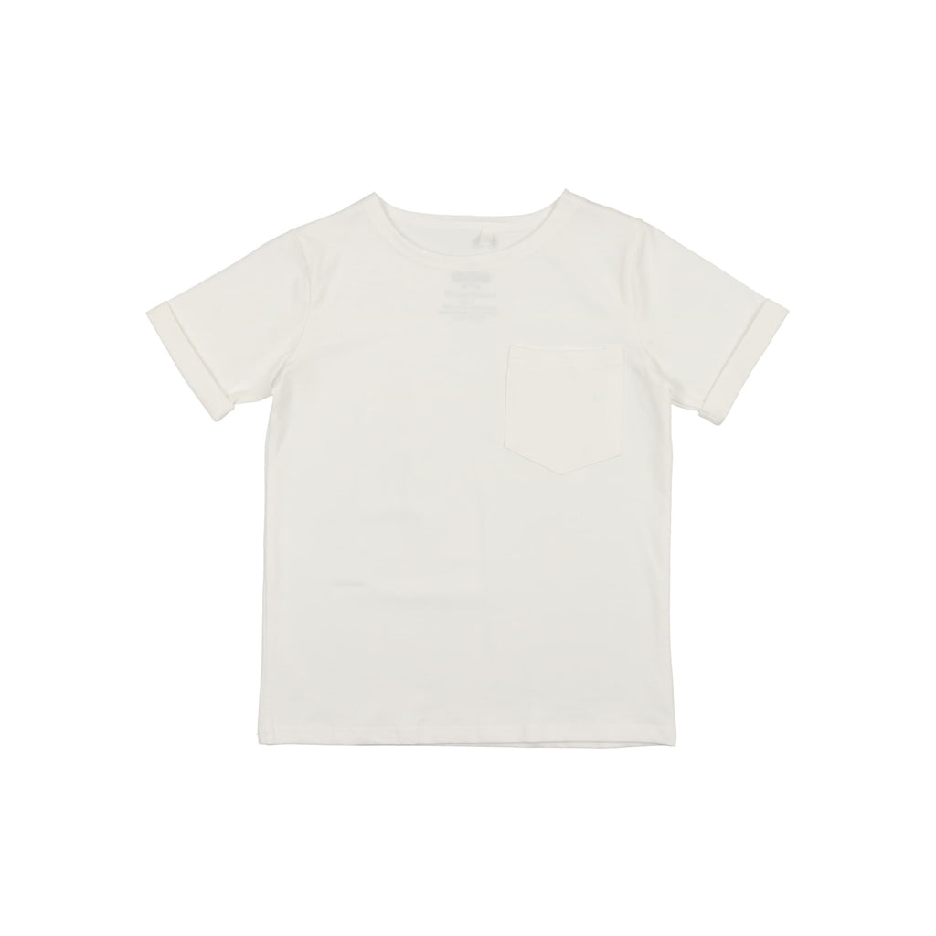 Loose Boxy Boys Top- White
