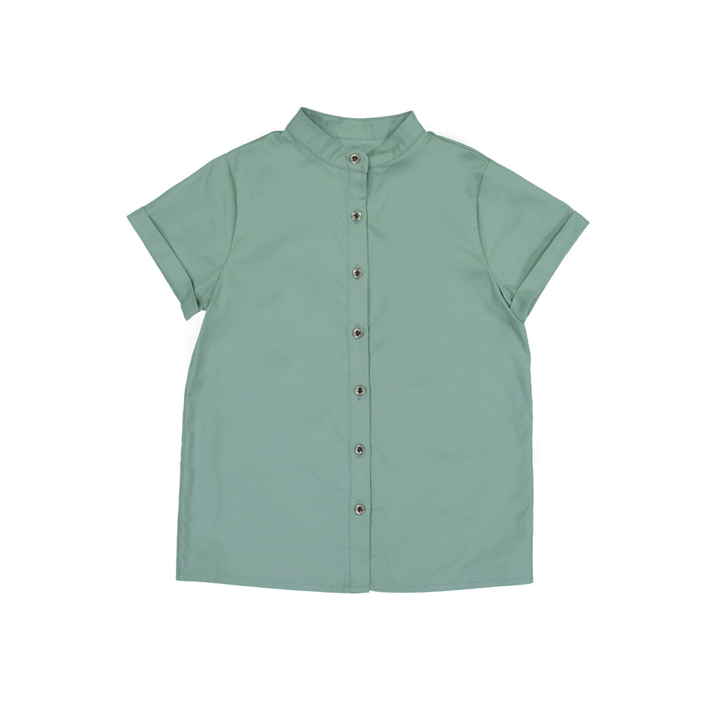 Boys Mandarin Collar Tunic- Jungle Green