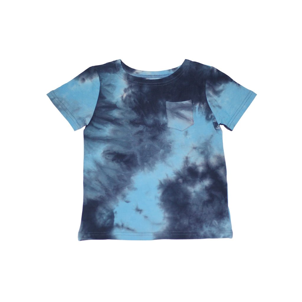 Tie Dye Boys T-Shirt- Blue Multi-Color