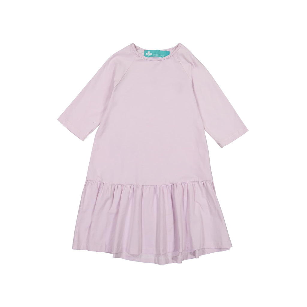 Drop Waist Ruffle Camp Dress- Lilac