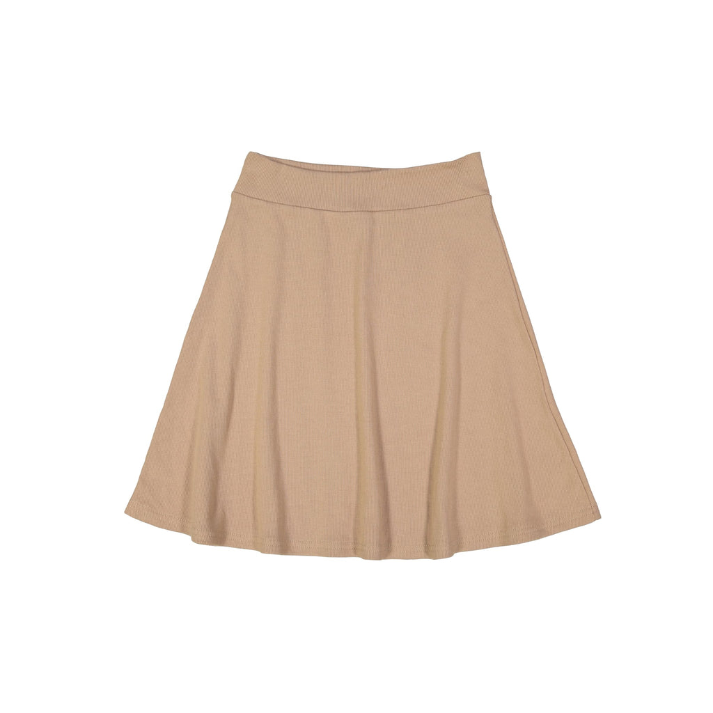 Ribbed Camp Skirt- Tan
