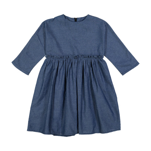 Denim Camp Dress - Dark Denim