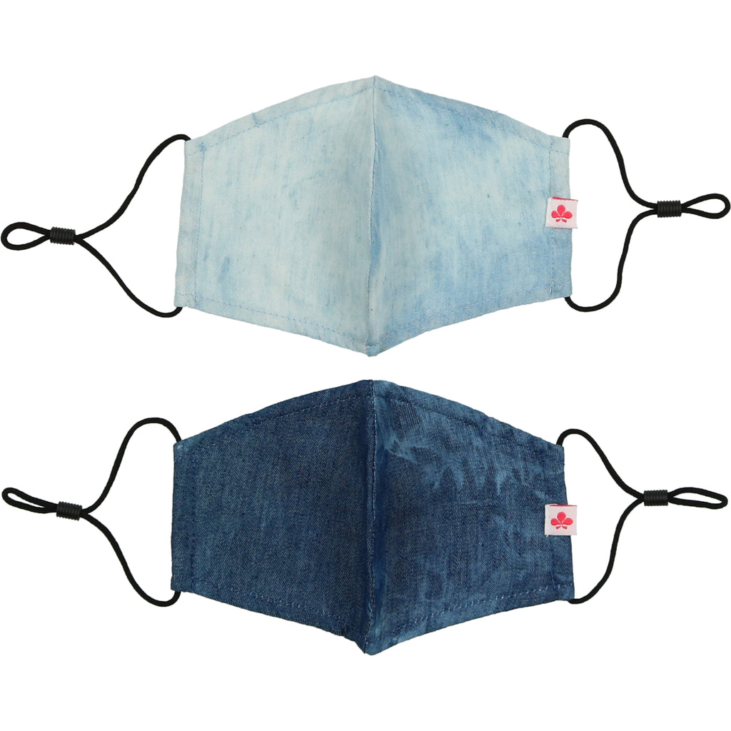 Mask 2 Pack - Dark Denim/Light Denim