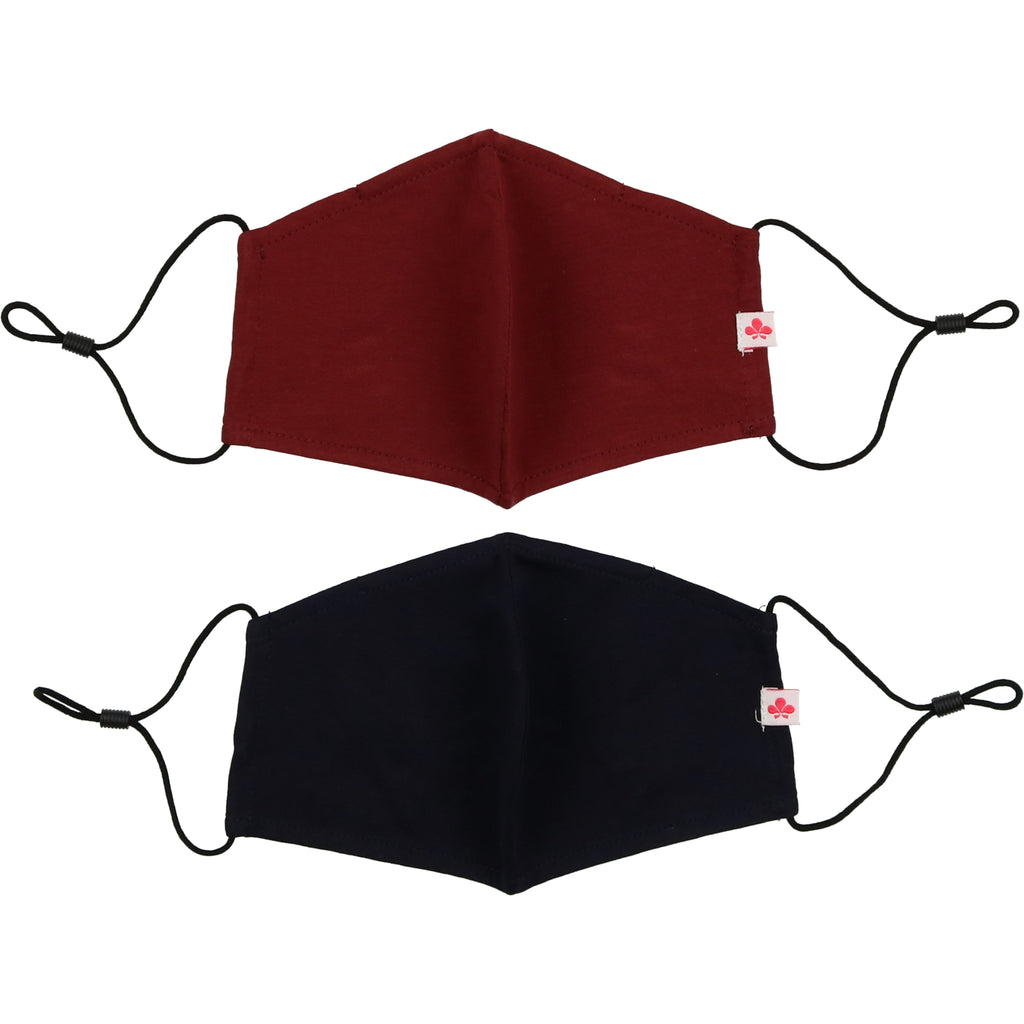 Mask 2 Pack - Navy/Burgundy