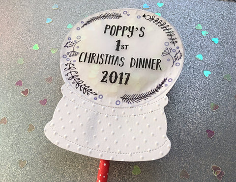 Personalised 1st Christmas Dinner Topper