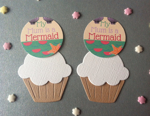My Mum is a Mermaid - Twelve Cake Toppers
