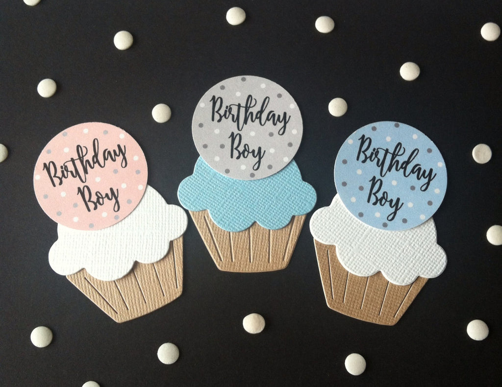 Birthday Boy Cake Toppers in 3 Colours