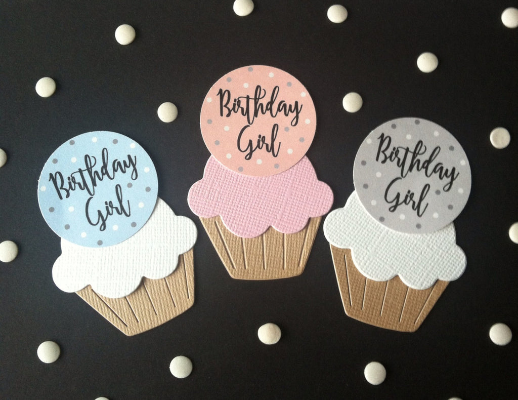 Birthday Girl Cake Toppers in 3 Colours