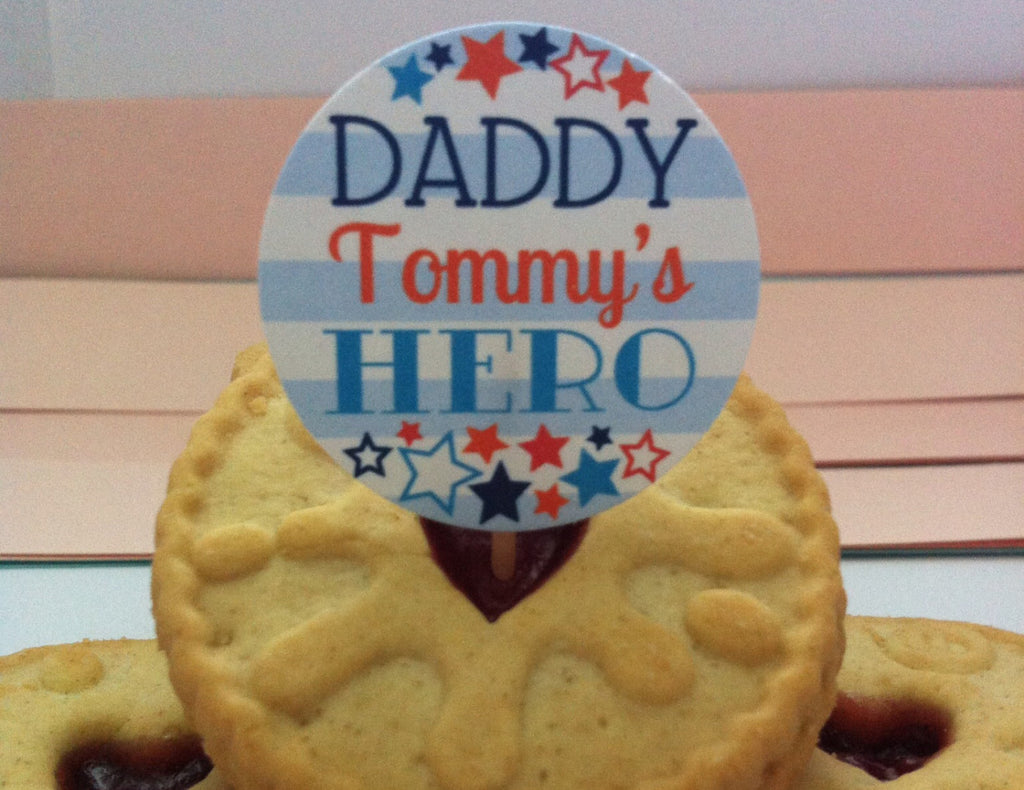 Daddy - Tommy's hero cake topper