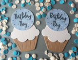 Birthday Boy Cake Toppers in Blue
