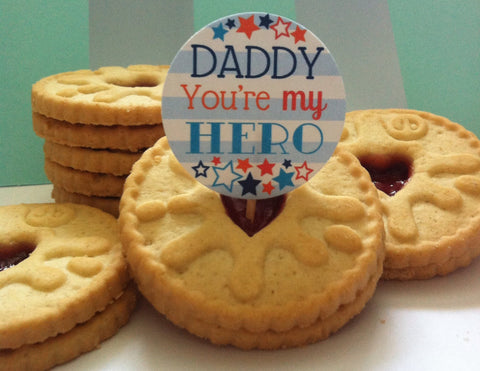 Daddy Hero - Twelve Cake Toppers