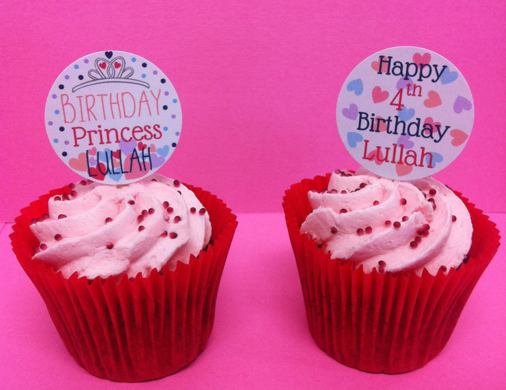 Two Princess Design Cupcake Toppers
