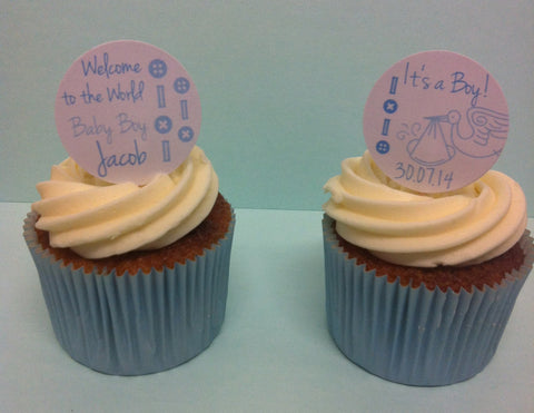 It's a Boy! - Twelve Cake Toppers