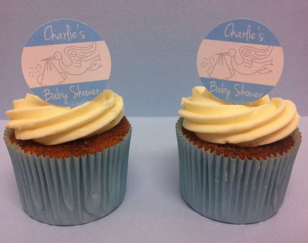 Two Blue Baby Shower Custom Cake Toppers