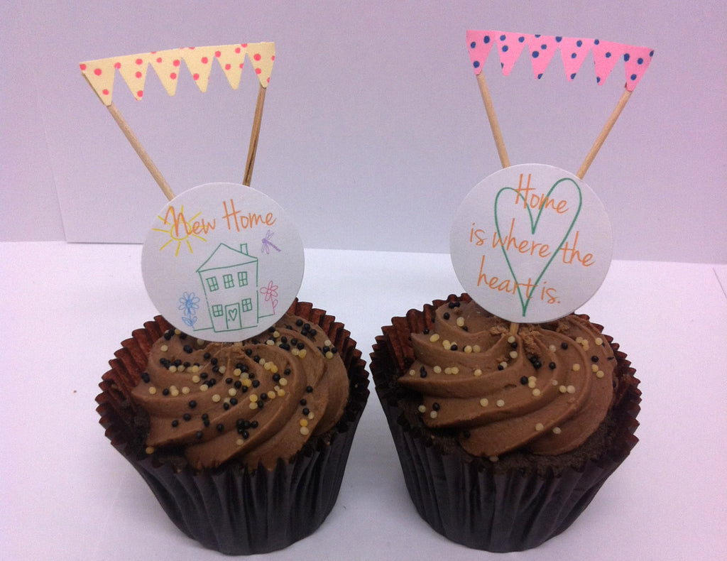 New Home Cake Toppers & Pastel Mini Cake Bunting