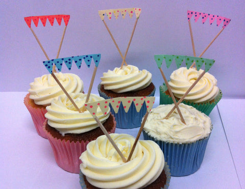 Mini Polka Dot Cake Bunting - Twelve Toppers