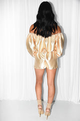 THIGHS & SHINE SATIN PLAYSUIT