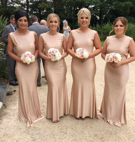 COWL BACK BRIDESMAID DRESS