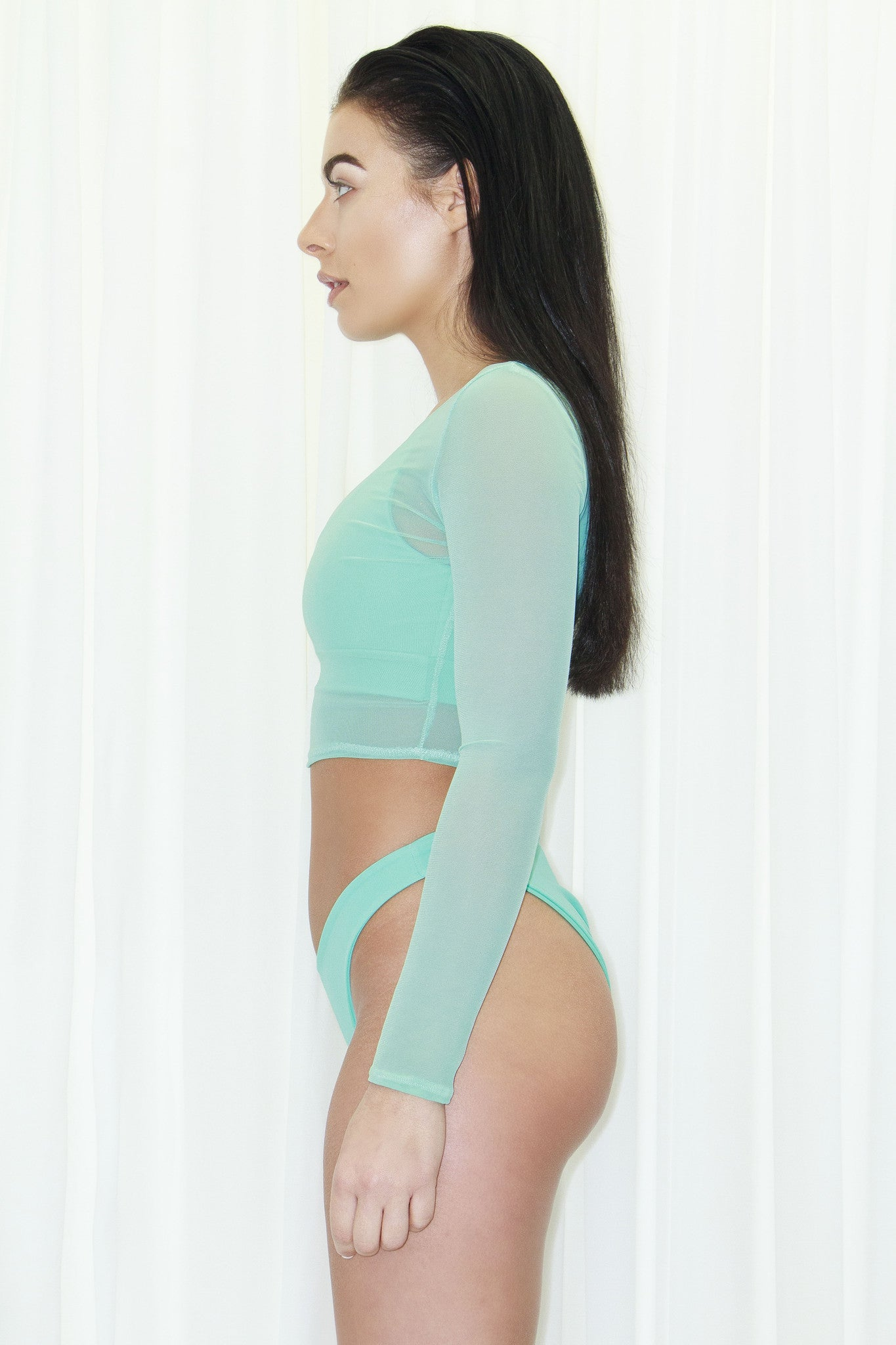 MINT SODA MESH CROP