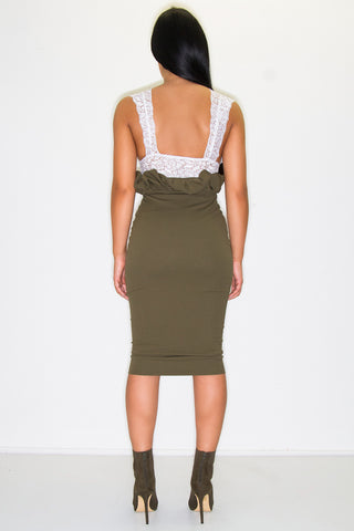 EASTON PAPERBAG SKIRT KHAKI
