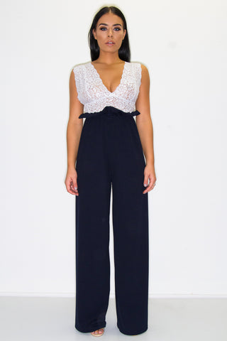 ARLO PAPERBAG TROUSERS NAVY