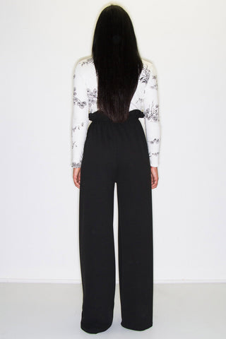ARLO PAPERBAG TROUSERS BLACK