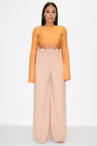 ARLO PAPERBAG TROUSERS CAMEL