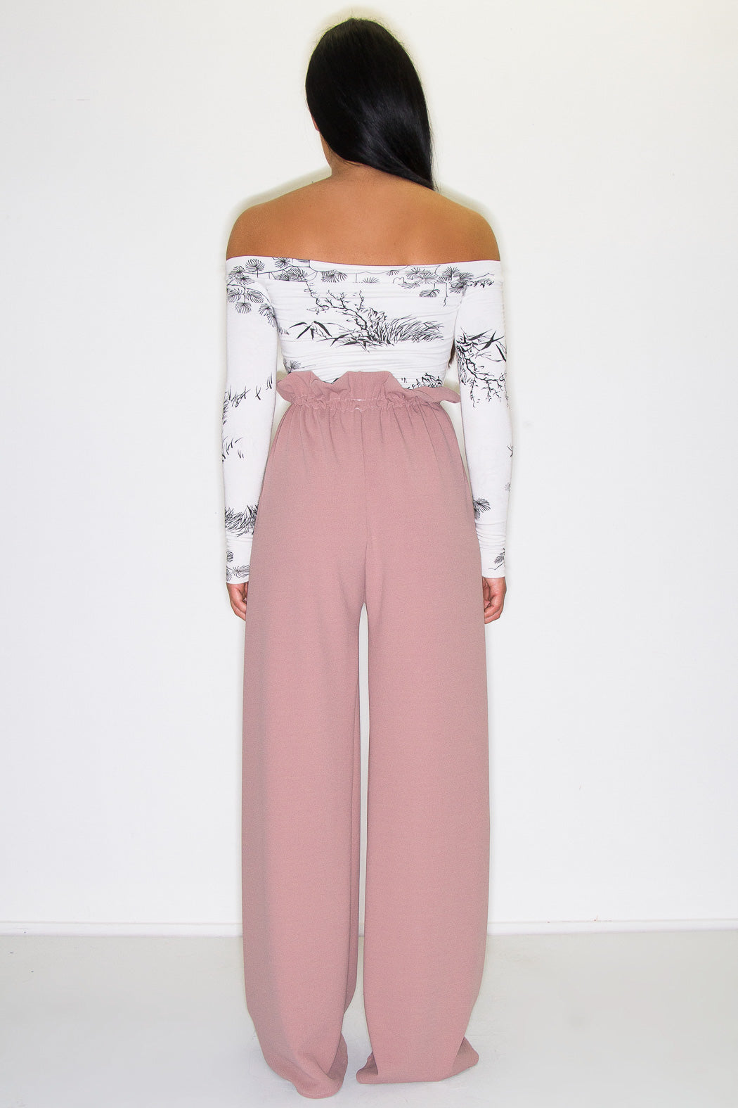 ARLO PAPERBAG TROUSERS DUSKY ROSE
