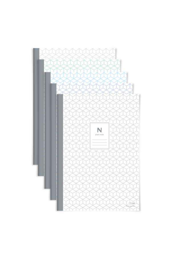 5 PACK - N plain, 72 blank pages (Price+VAT)