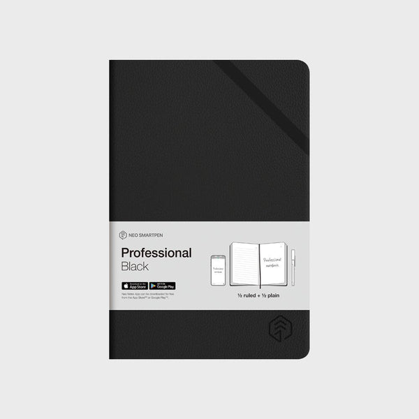 N Professional Notebook Black.  250 Pages Ruled & Blank
