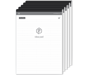 5 PACK - N idea pad, A4 sized, 100 pages, ruled paper with dots at intervals